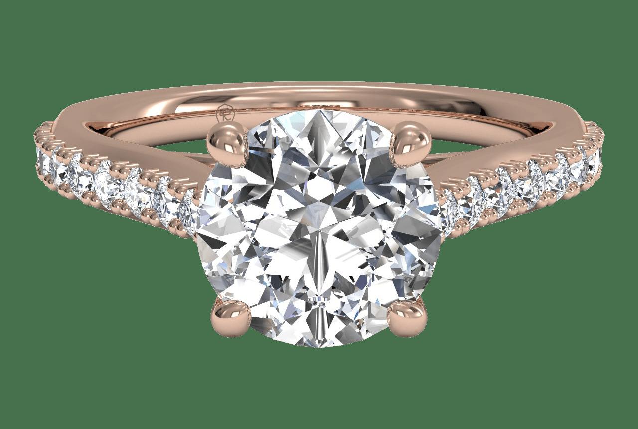 sidestone rose gold engagement ring
