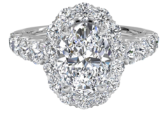 4 Carat Oval Cut Engagement Rings