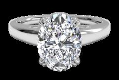 1 Carat Oval Diamond Rings